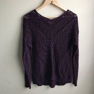 Cloud Chaser Burgundy Knit Sweater